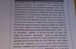 Un pasaje de la demanda presentada por Maximiliano Pansu.